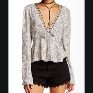 Free People Sz M Time of Your Life Blouse Boho